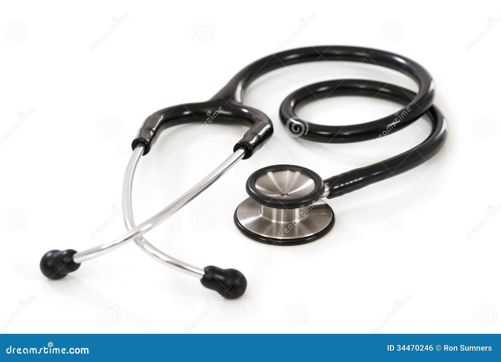 Stethoscope On White Background Royalty Free Stock Image