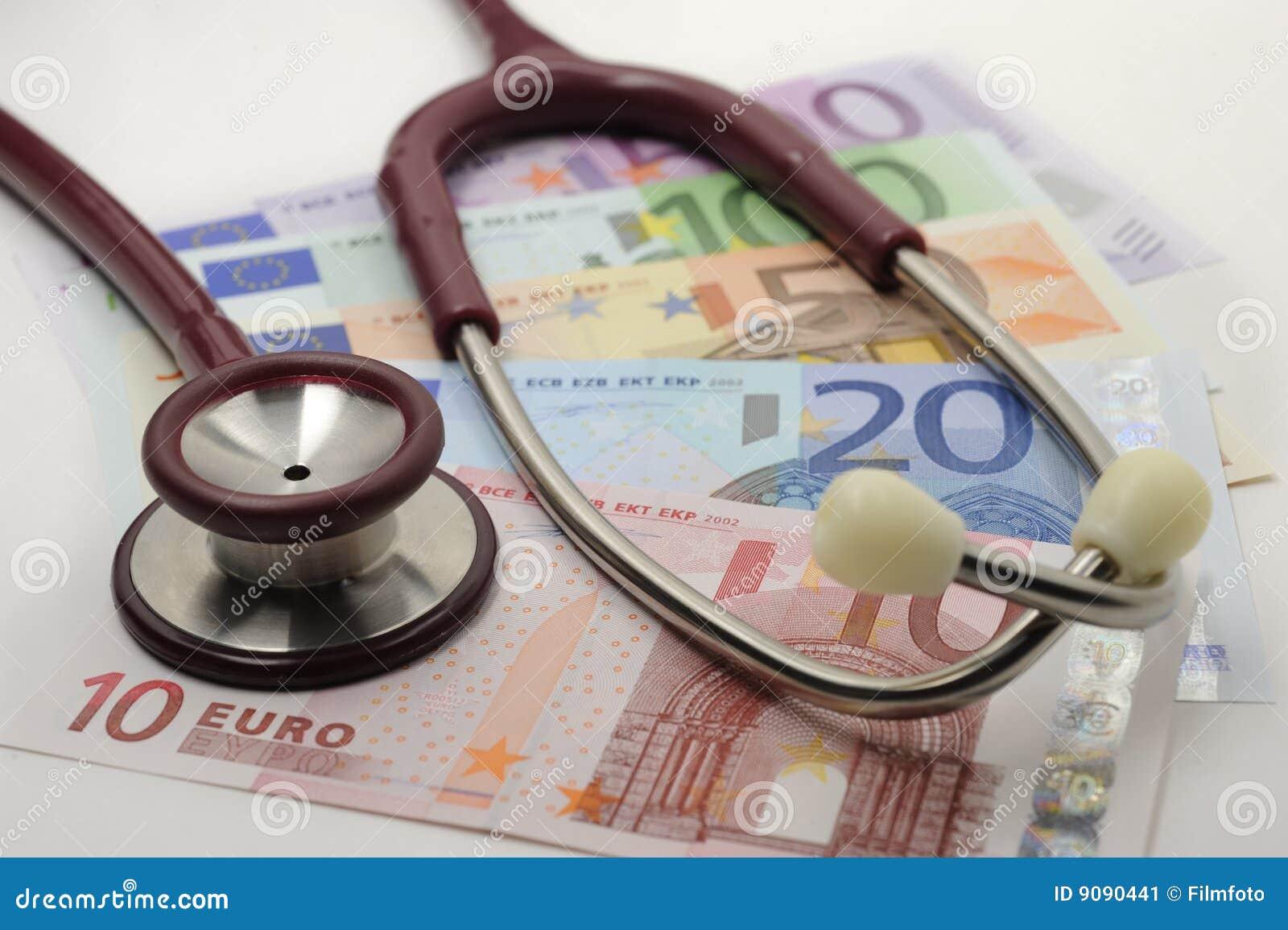 Stethoskop und Euro