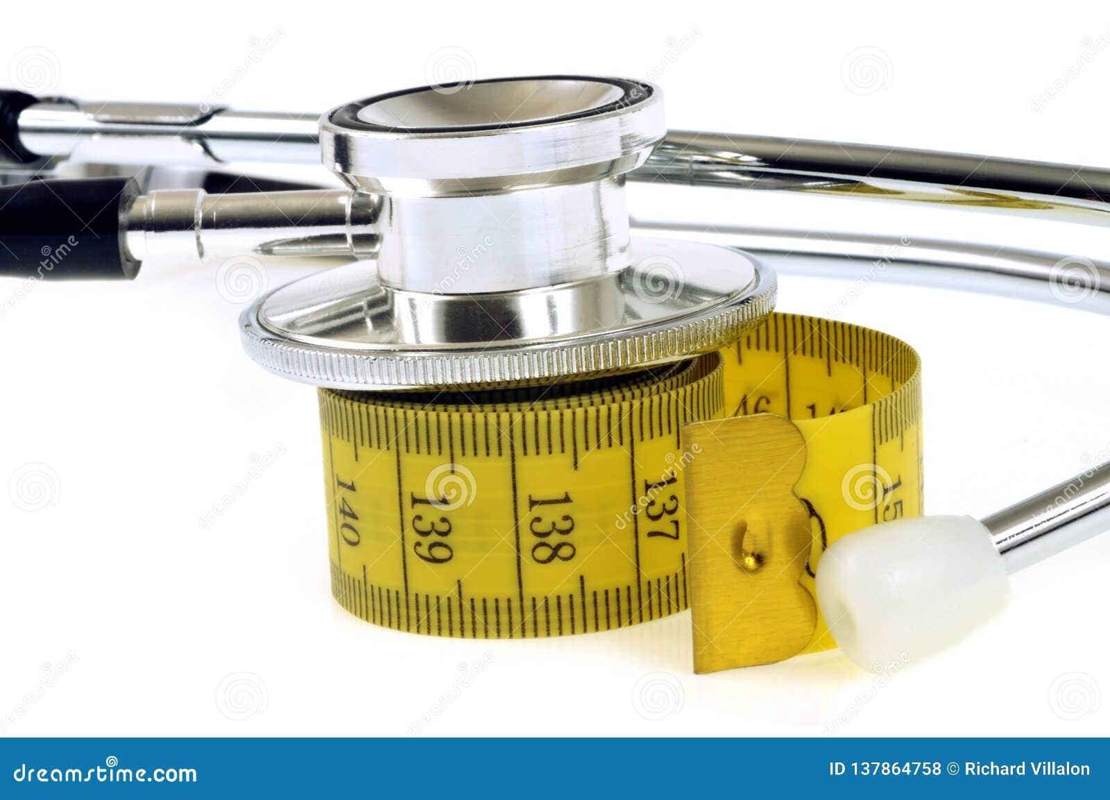 Stetoskop som vilar på en mjuk sömmerskameter