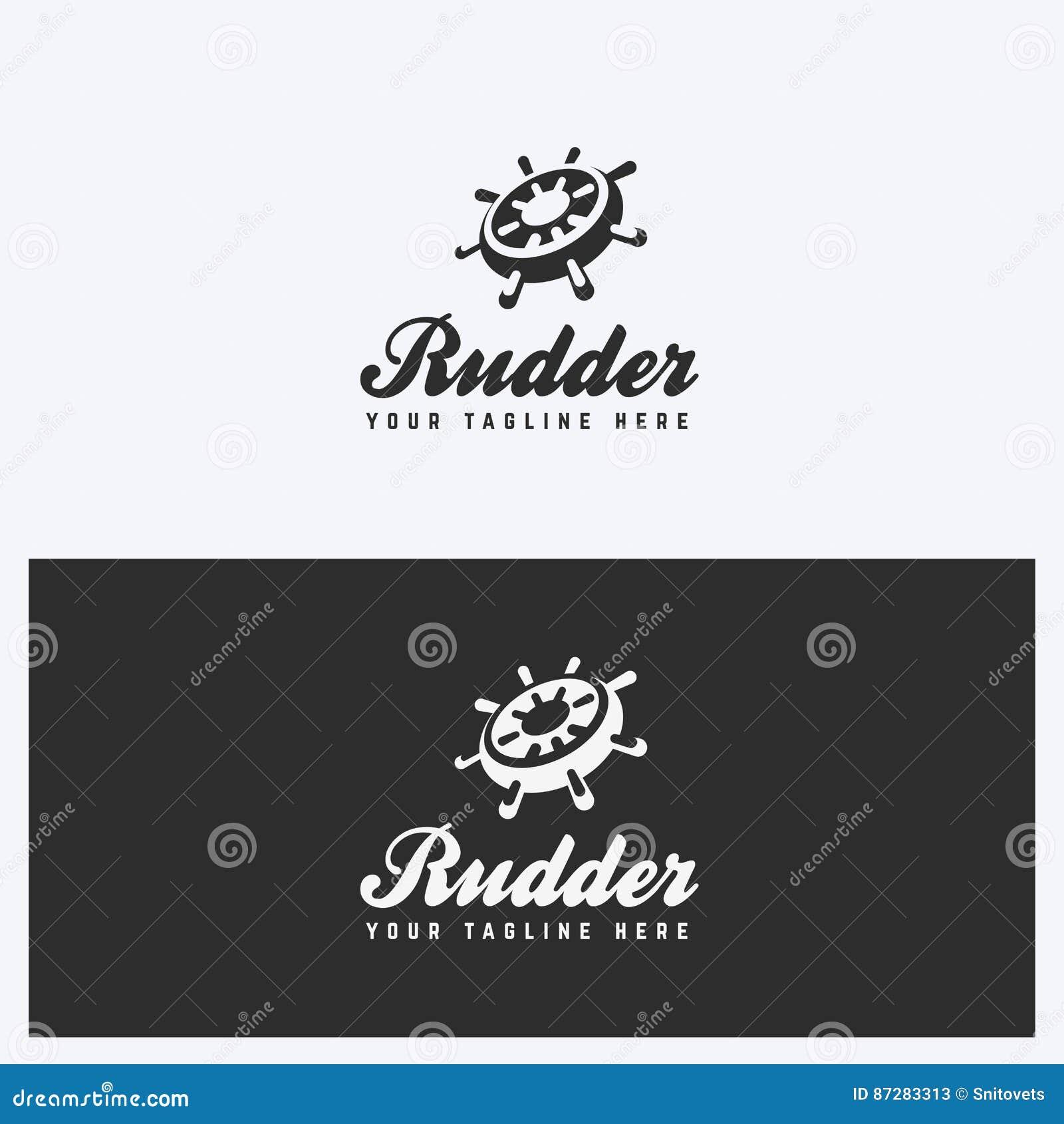 Steuer, Helm Logo Design Template Segeln, Seethema Einfache Und ...