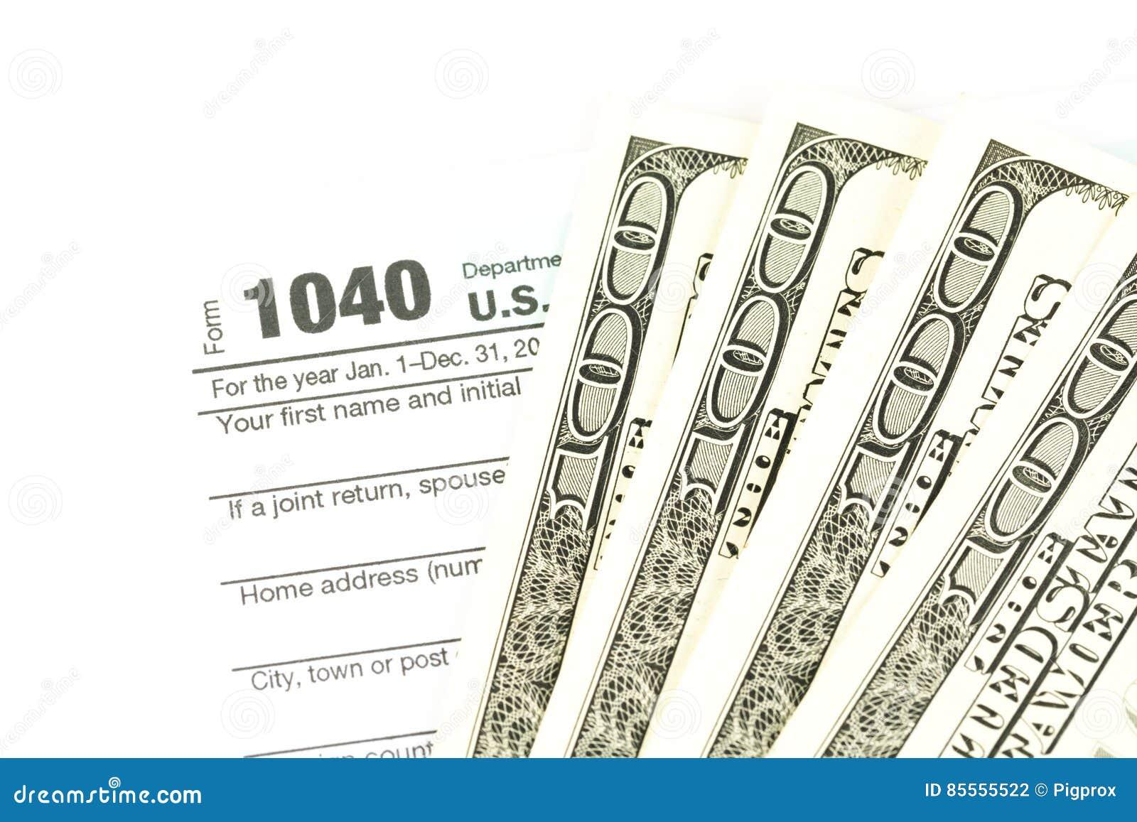 Steuerformular-Geschäftsfinanzkonzept