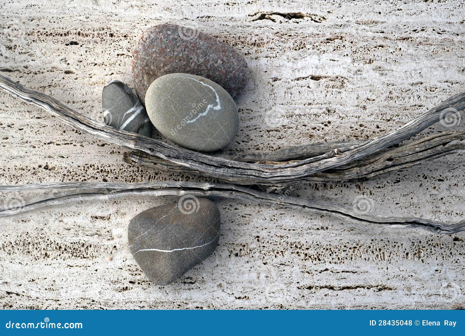 Steuerknüppel und Steine