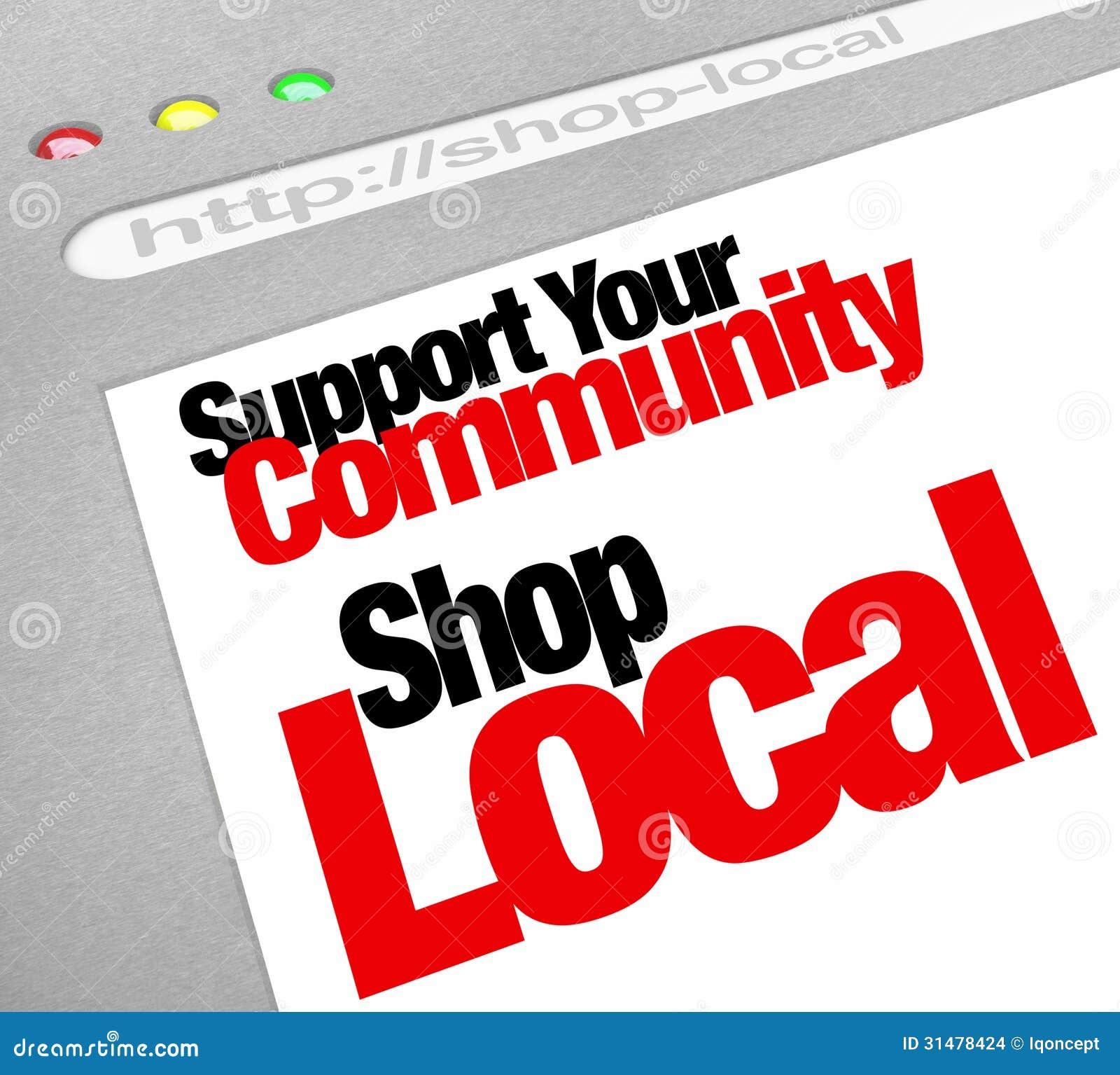 Steun het Uw Communautair de Opslagscherm van de Winkel Lokaal Website