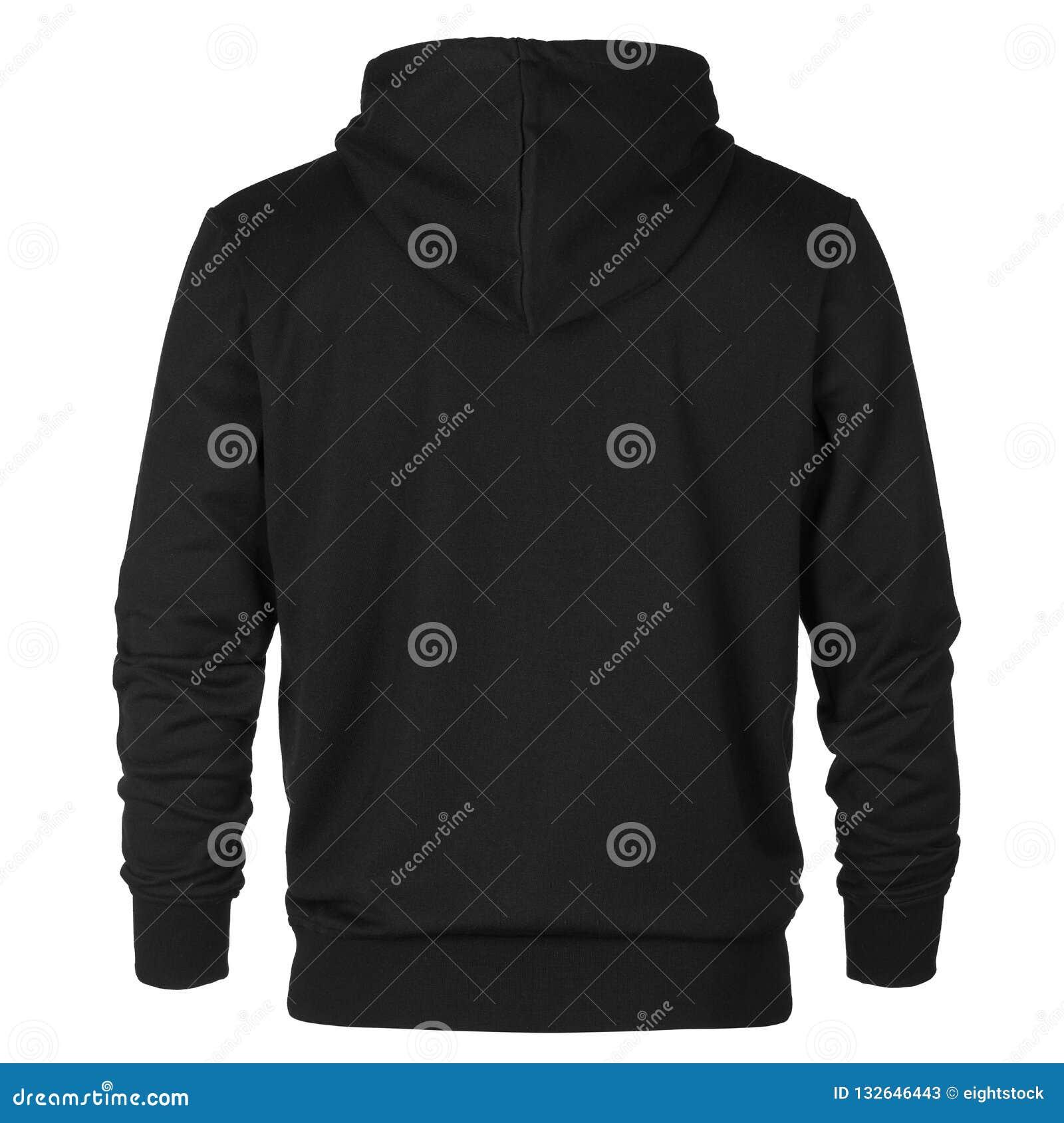Steun van zwart sweatshirt met kap