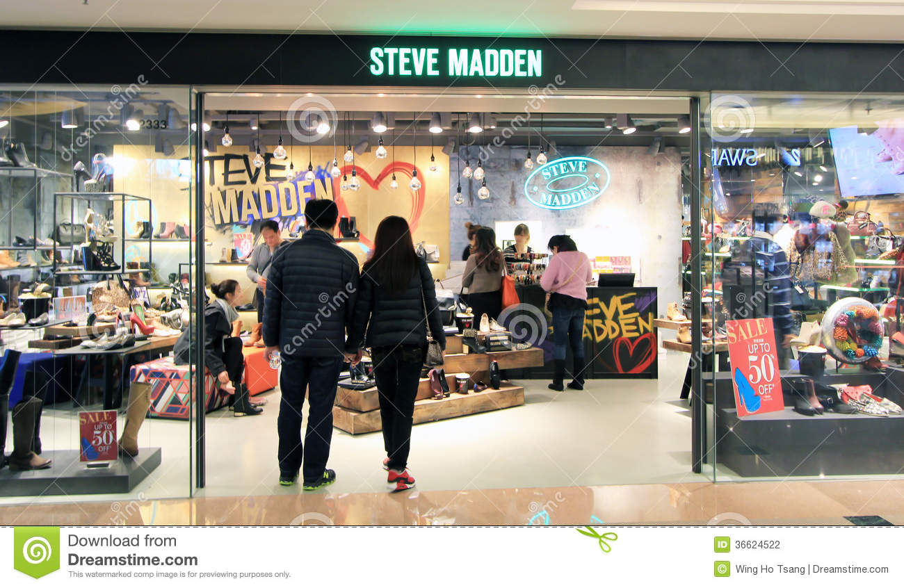 c1e92f0f39a Steve Madden Shop In Hong Kong Editorial Photography - Image of tsui ...