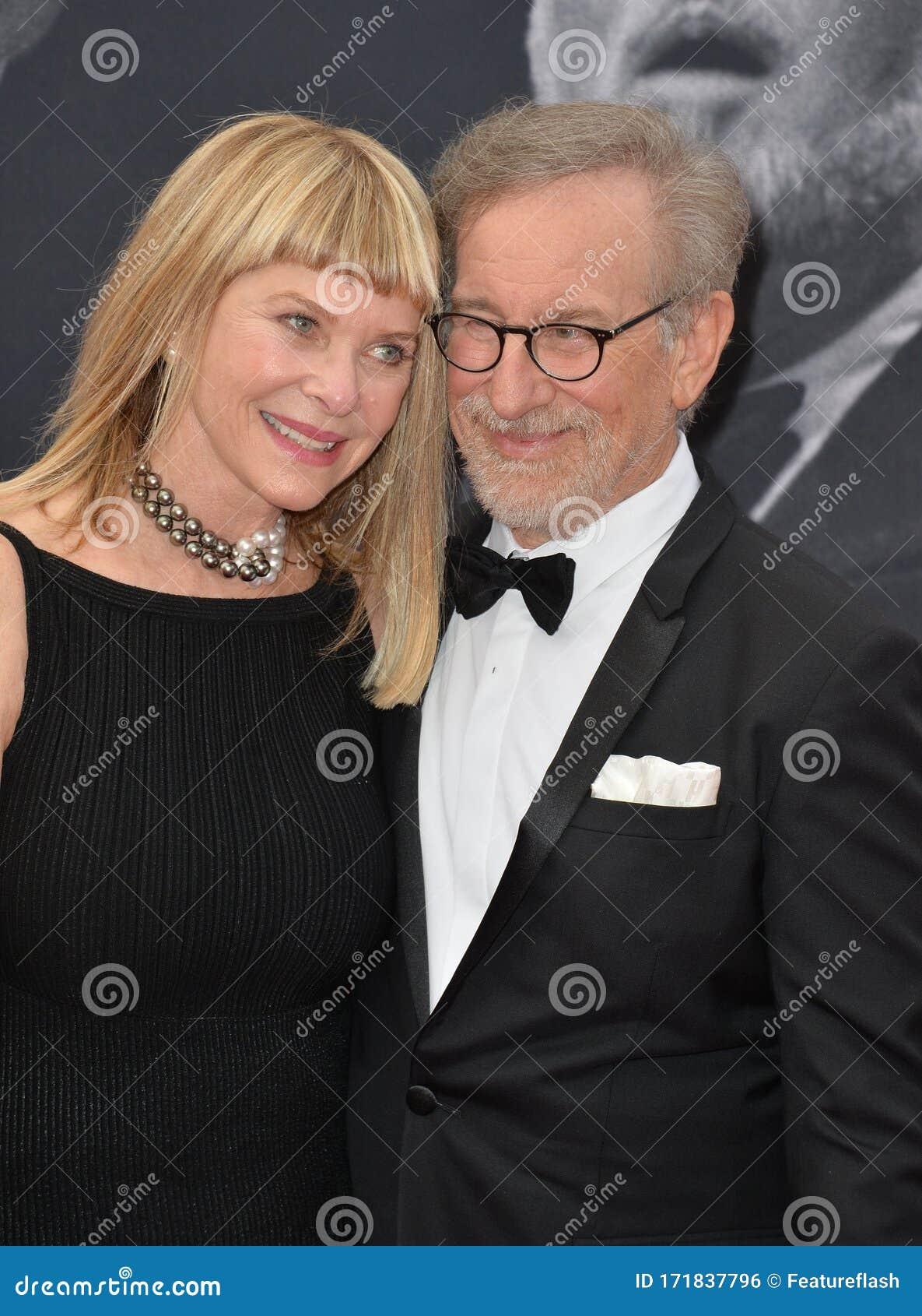 Steven Spielberg Kate Capshaw Editorial Photo Image Of Actress Tuxedo 171837796