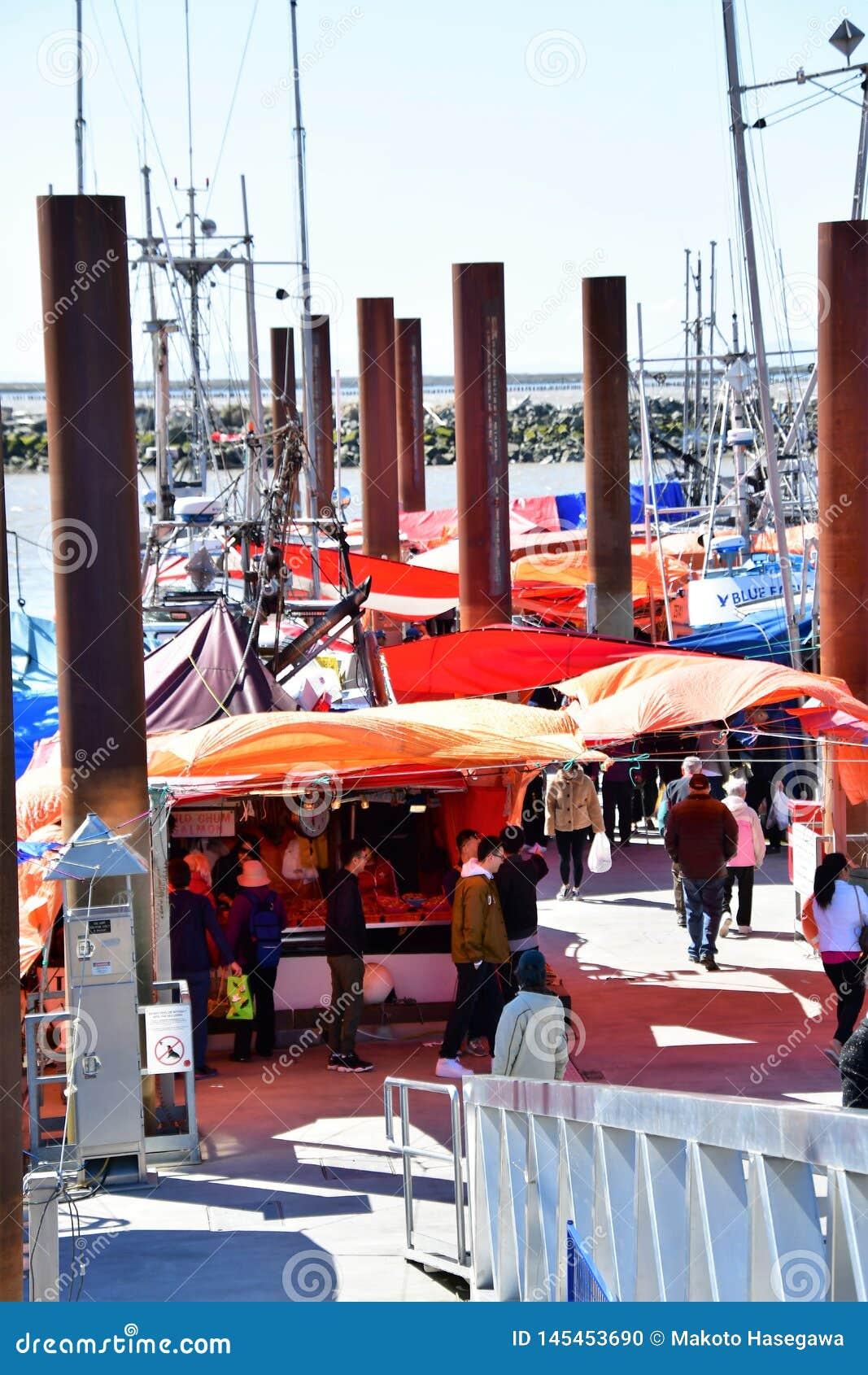 Steveston fiskares hamnplats