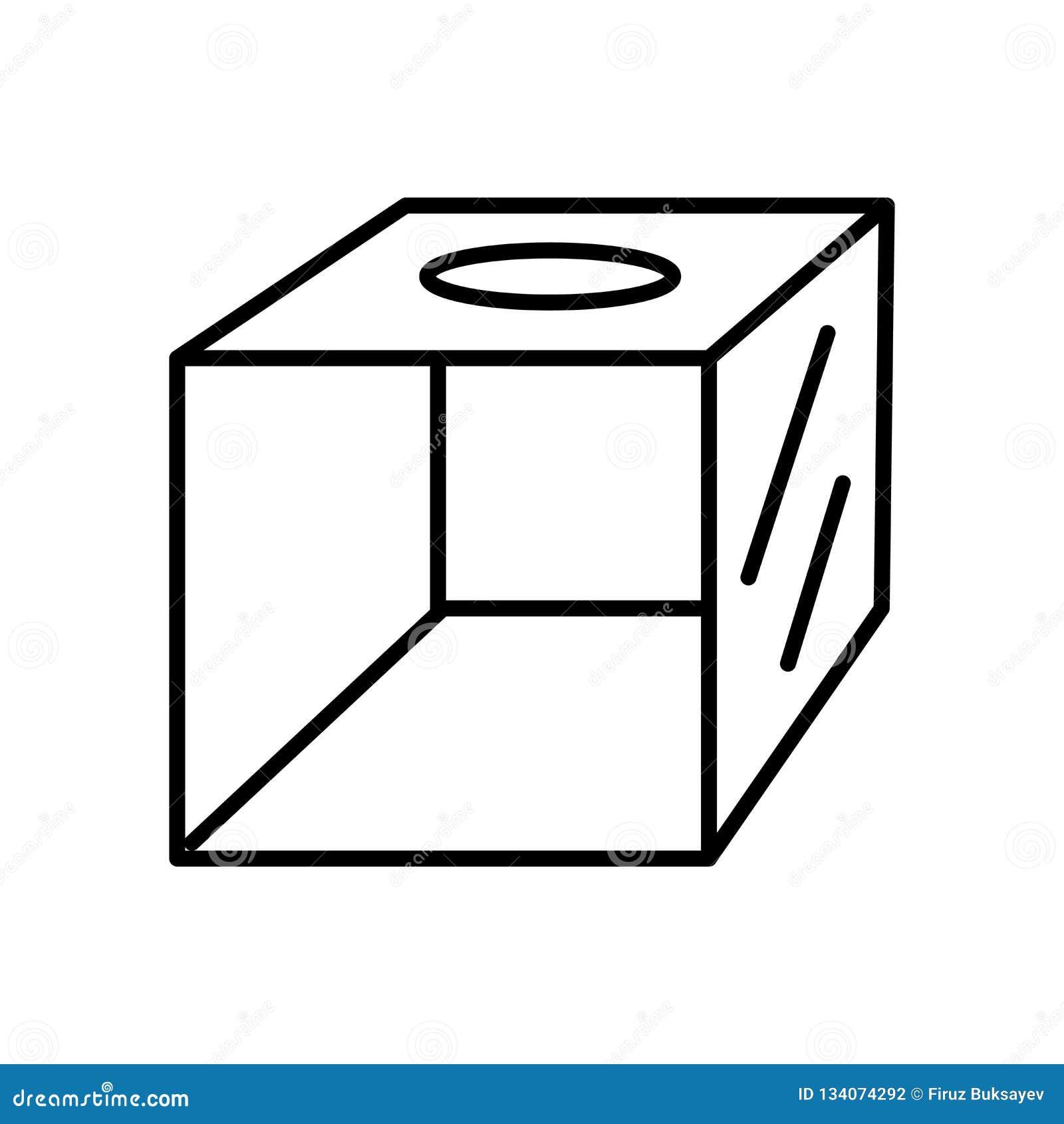 Stevige die pictogramvector op witte achtergrond, Stevig teken, teken en symbolen in dunne lineaire overzichtsstijl wordt geïsole