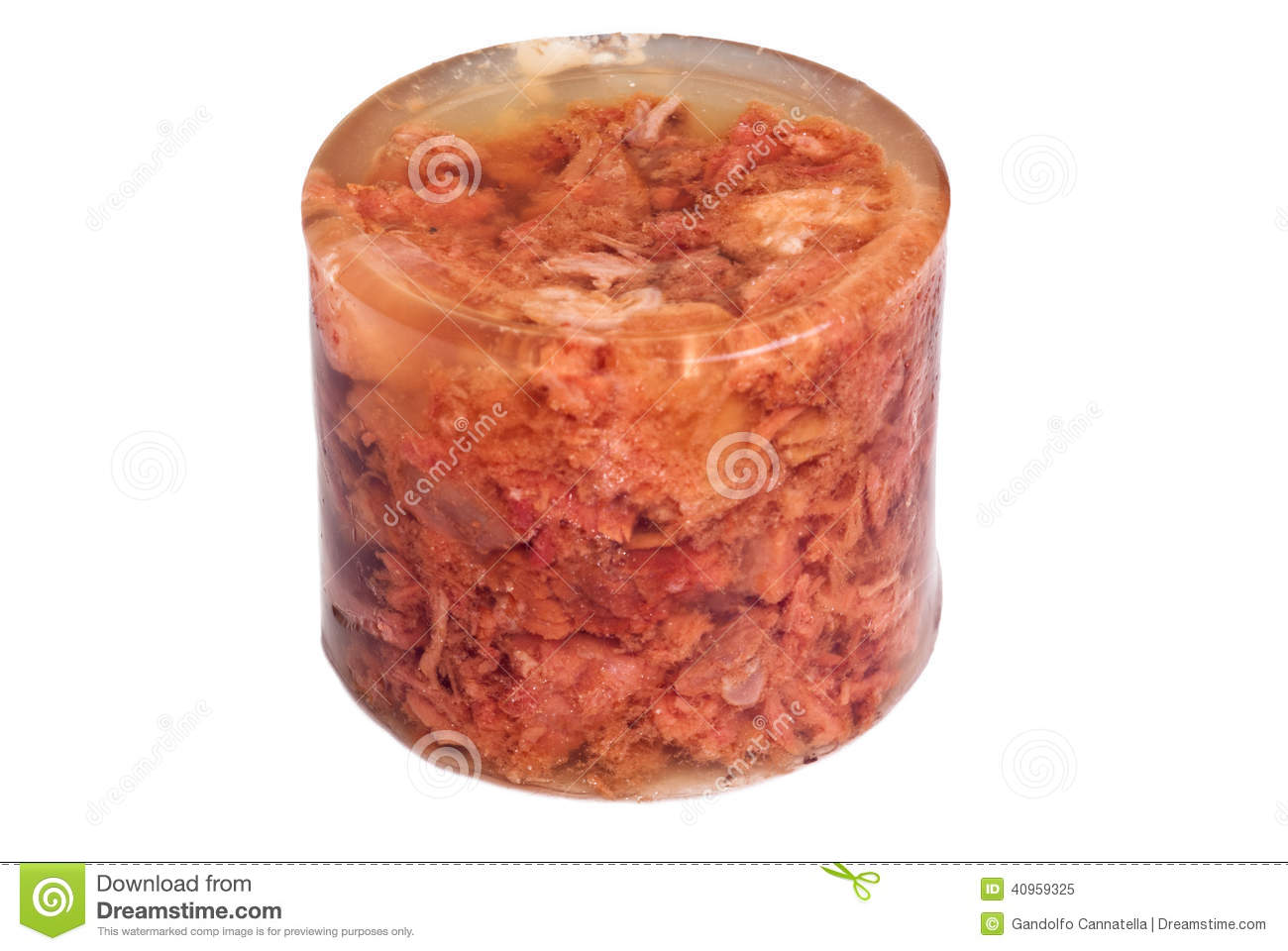 Stew in jelly isolated