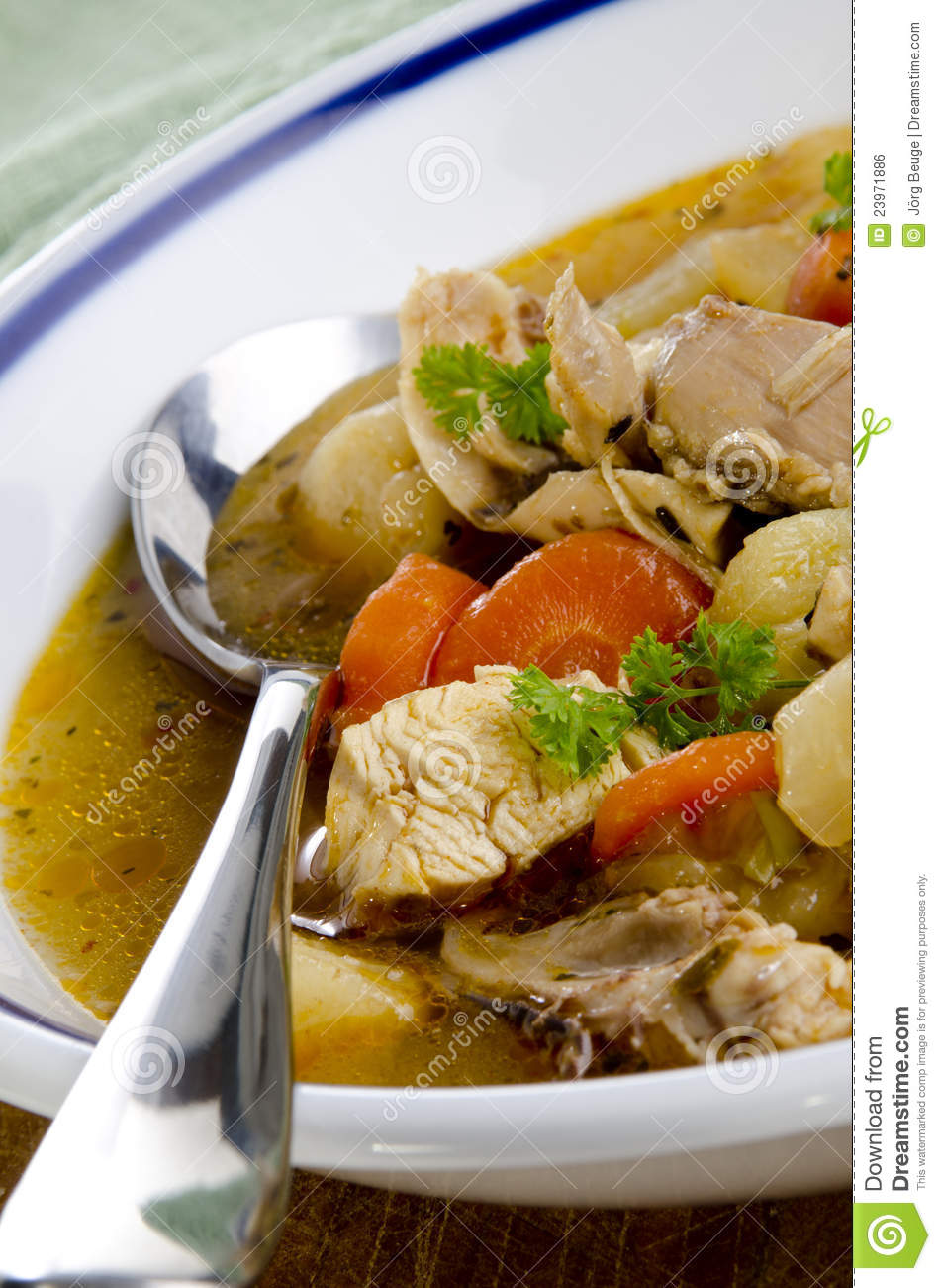 Stew with pork, carrots and potato