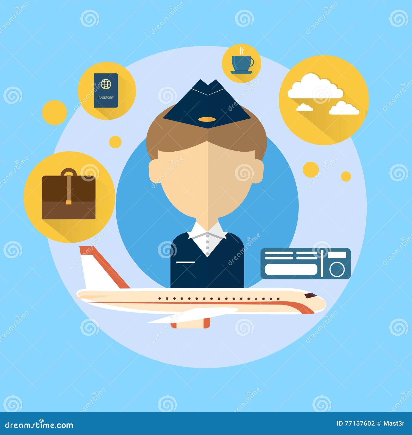 Steward Airport Crew Icon