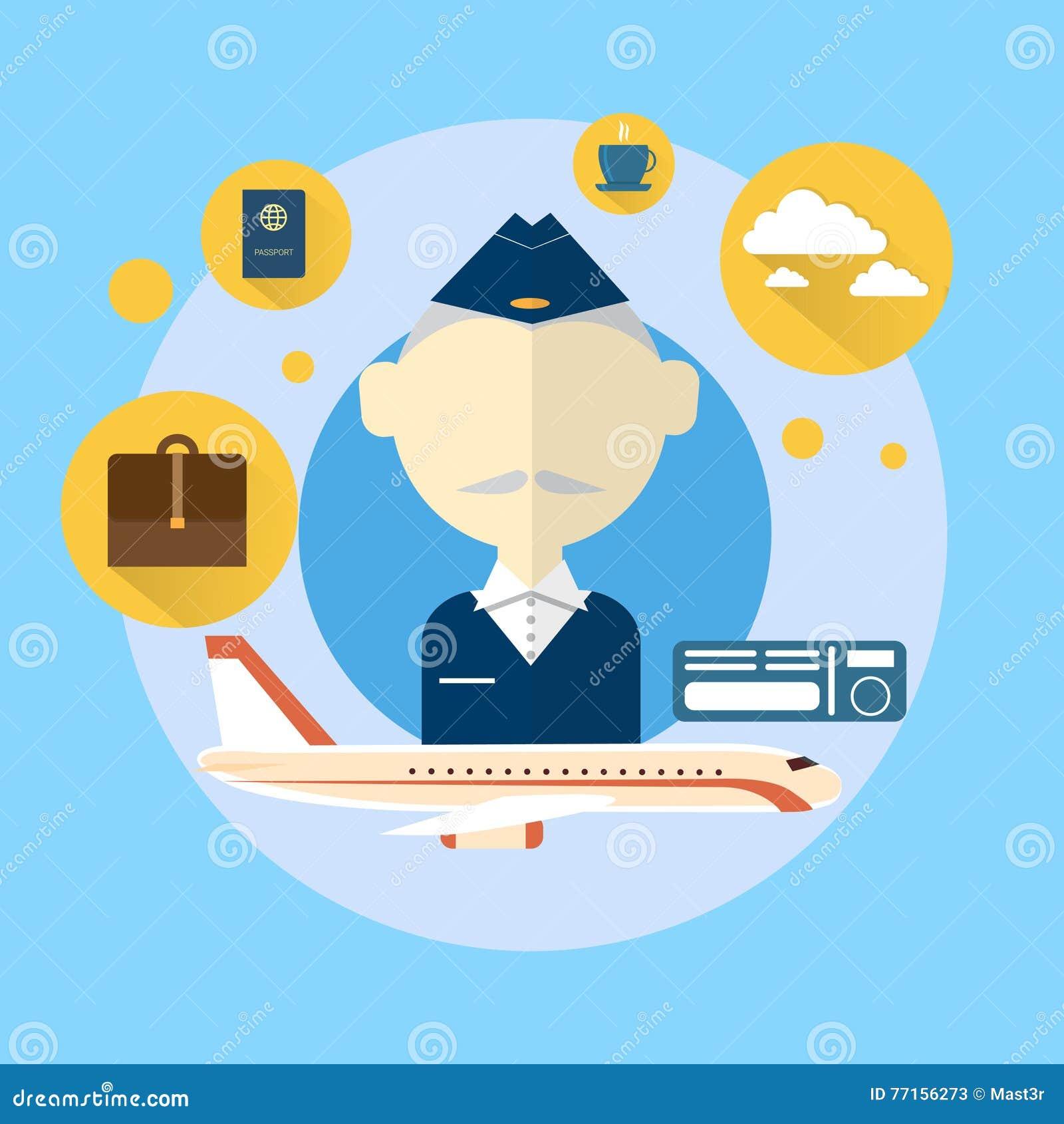 Steward Airport Crew Icon supérieur