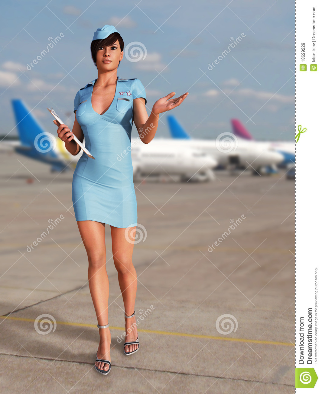 Stewardess porn photos free