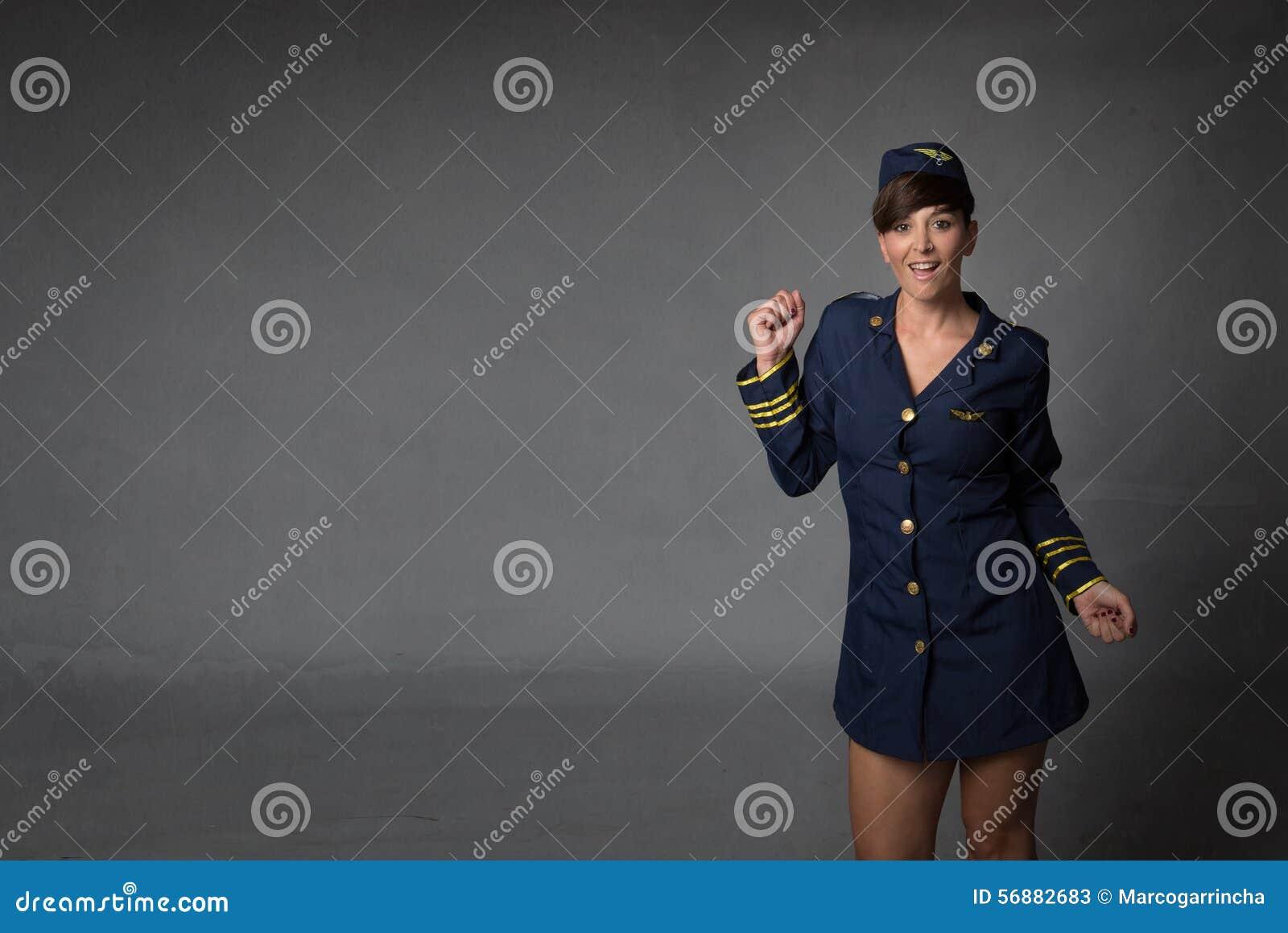 Stewardess in een wilde dans