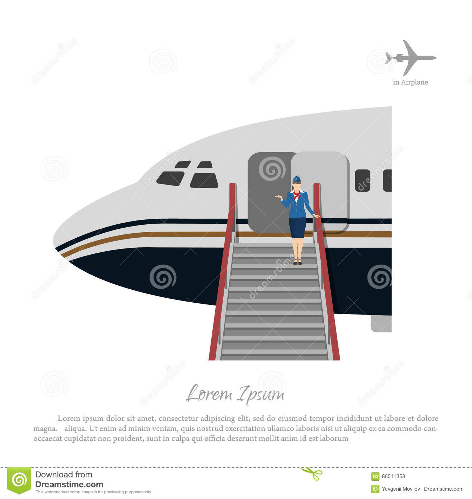 aircraft airplane attendant door ...