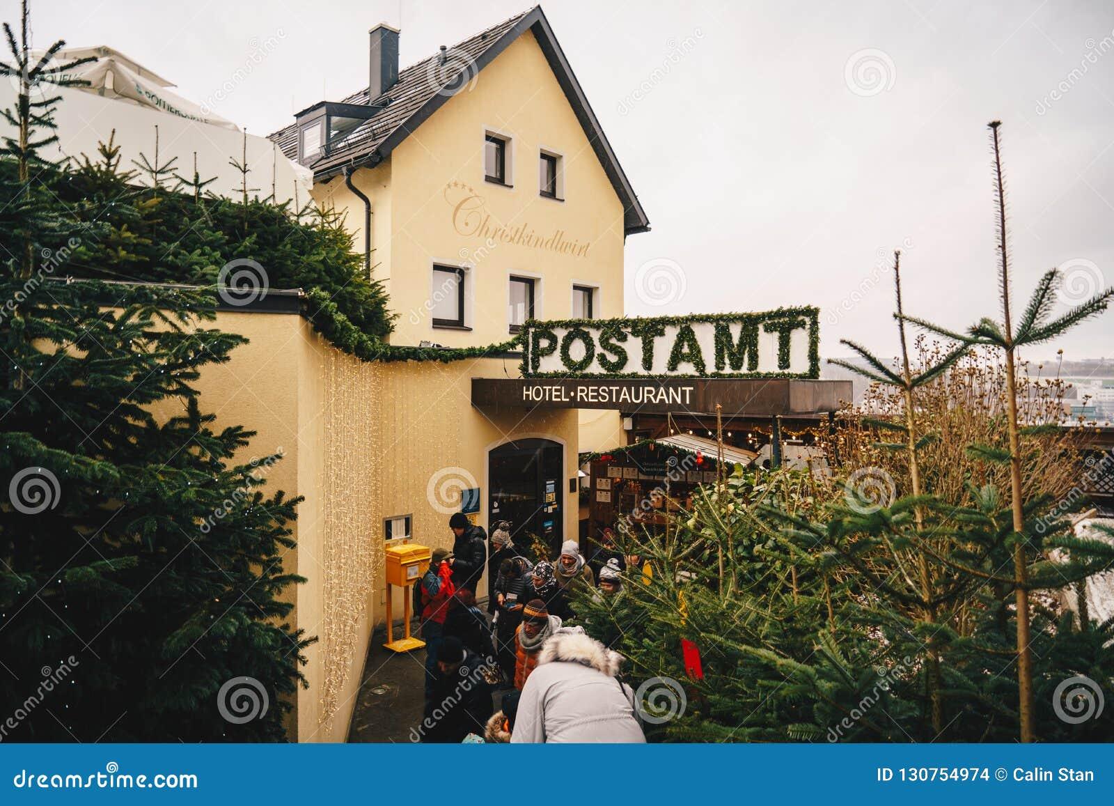 Steyr, Αυστρία - το Δεκέμβριο του 2017: Είσοδος στα Χριστούγεννα μετα Ο