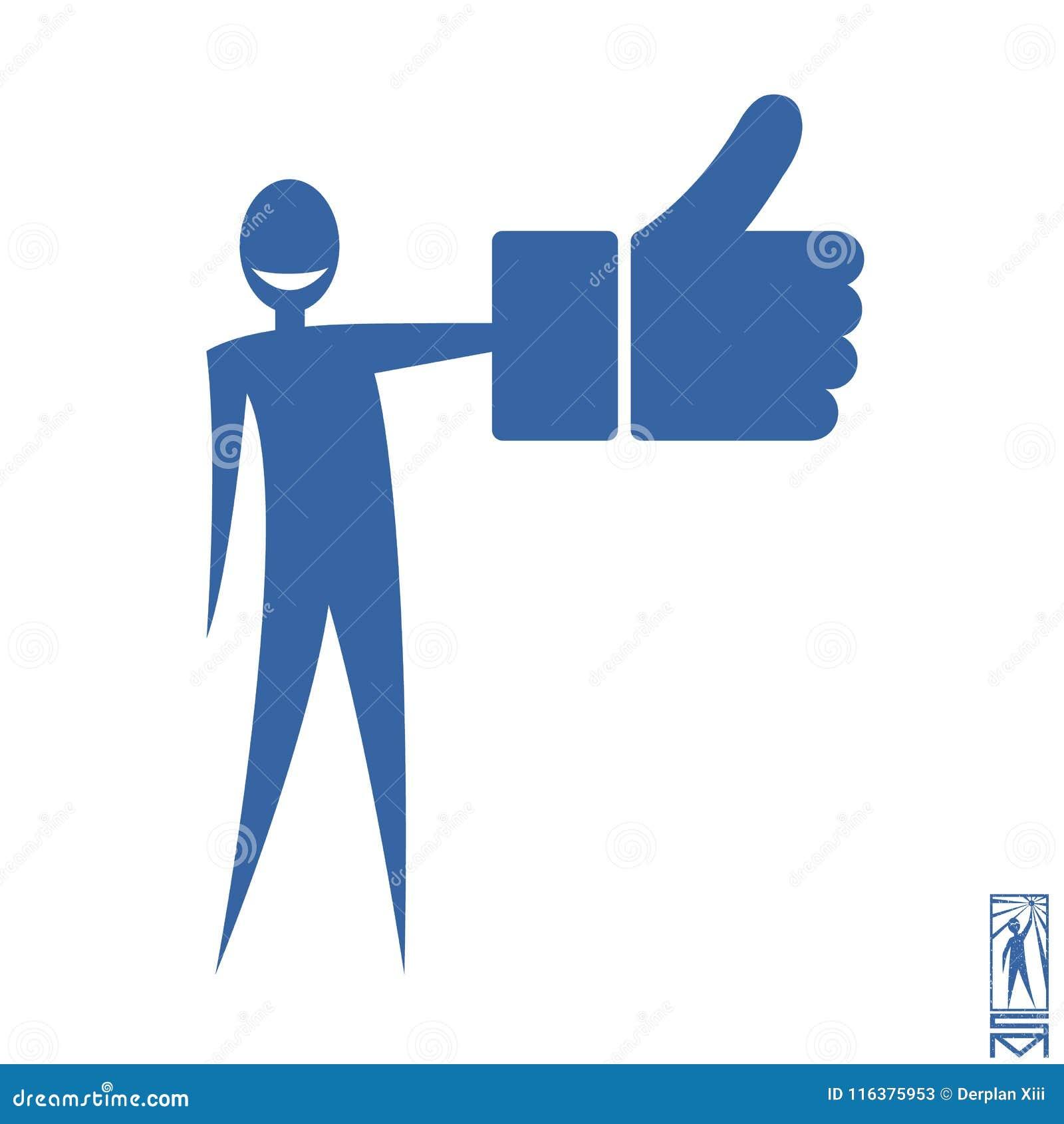 Stick Figure Like Facebook Stock Vector Illustration Of Symbol