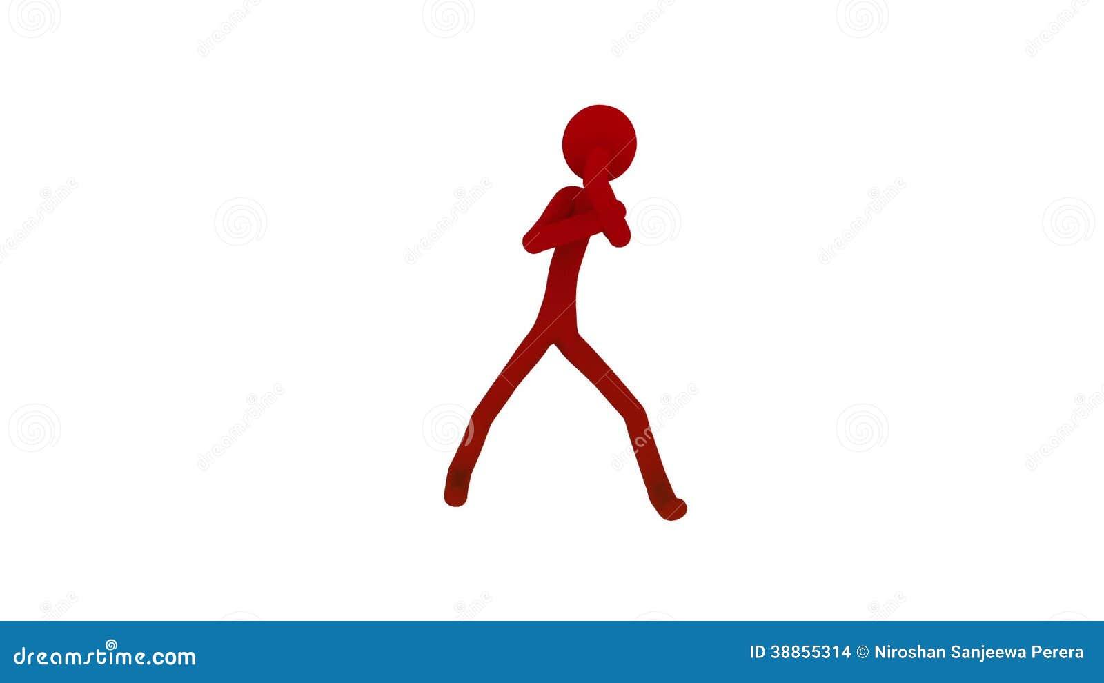 Stick figure man fighting boxing stock footage video of stick digital 38855314