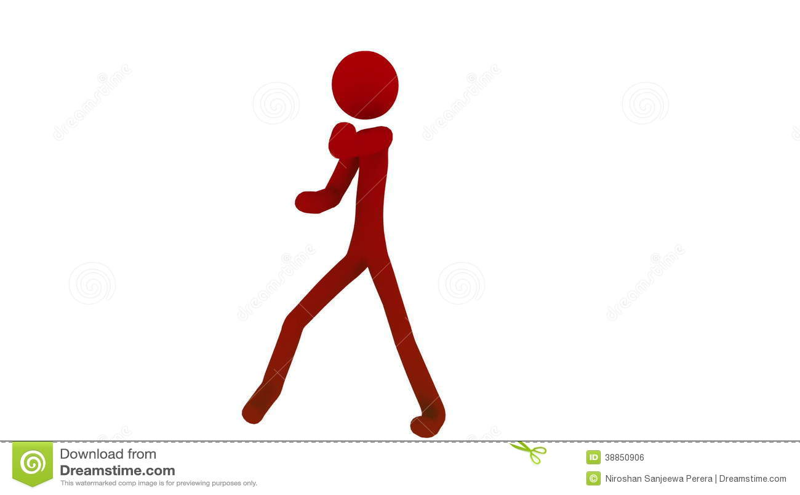 Stick figure man fighting martial arts stock footage video of shape kickboxing 38850906