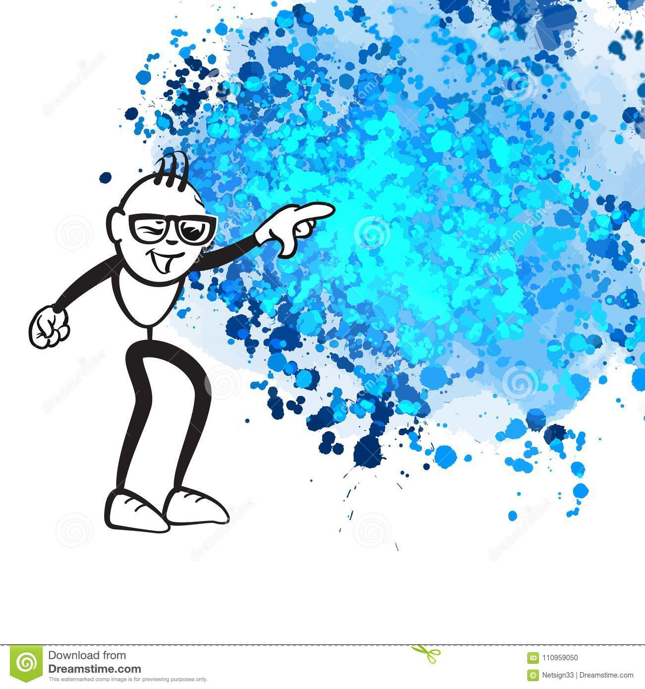stick figure pointing chaos stock vector illustration of clip