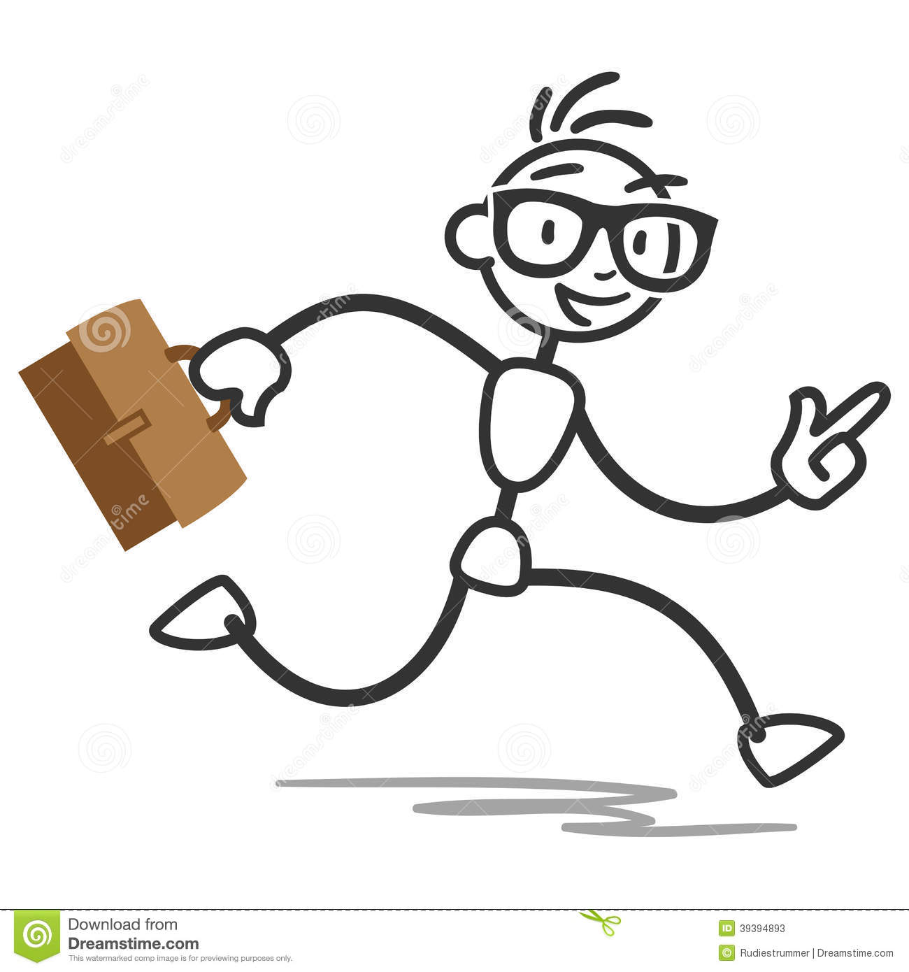 Clipart Stick Man Running