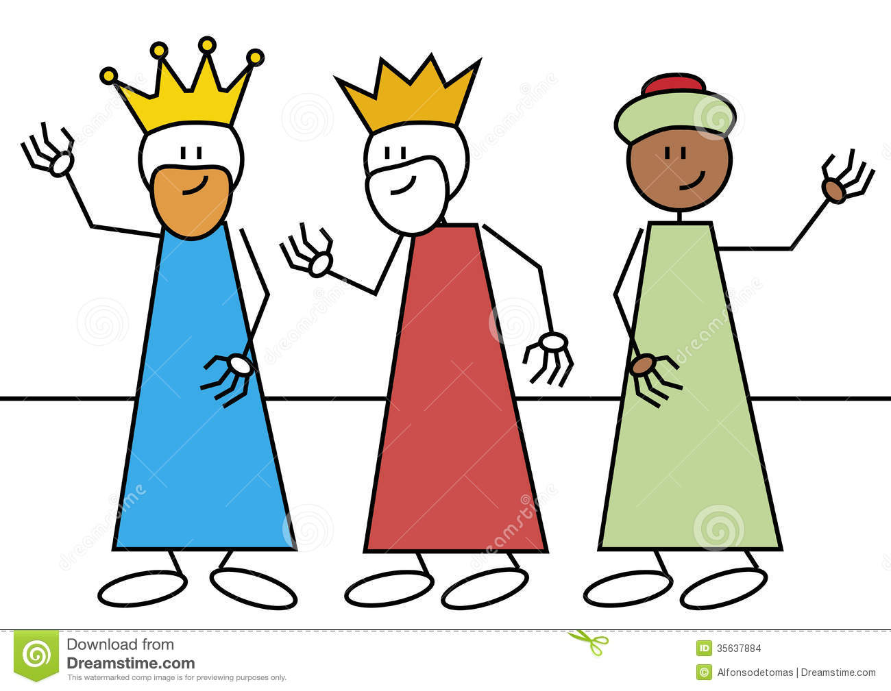 Stick Figure Three Wise Men Stock Images Image 35637884