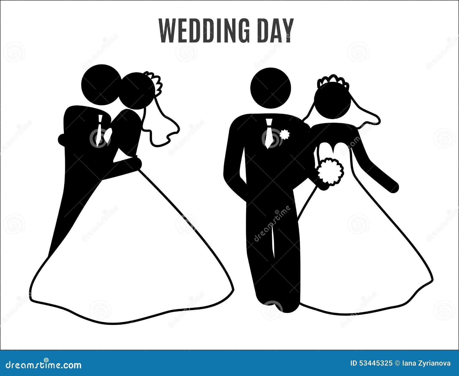 wedding family icon stick figure stock illustration illustration