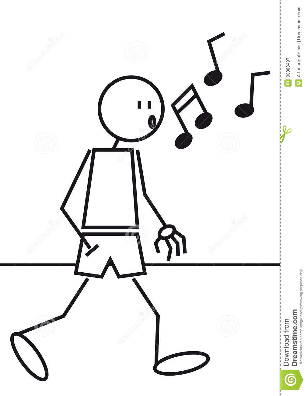 Stick Figure Whistling Royalty Free Stock Photography - Image ...