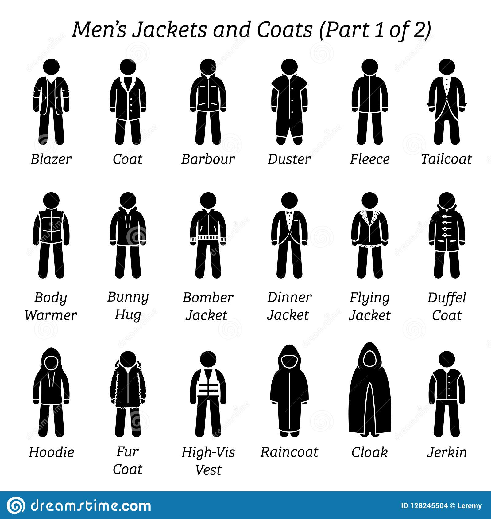 c006726750249 All Men Jackets And Coats Designs. Stock Vector - Illustration of ...