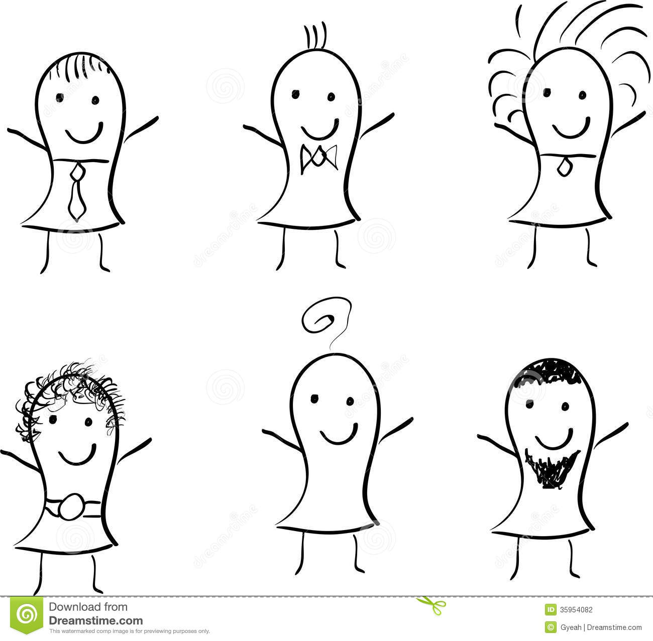 stick figures doodle children characters stock photography
