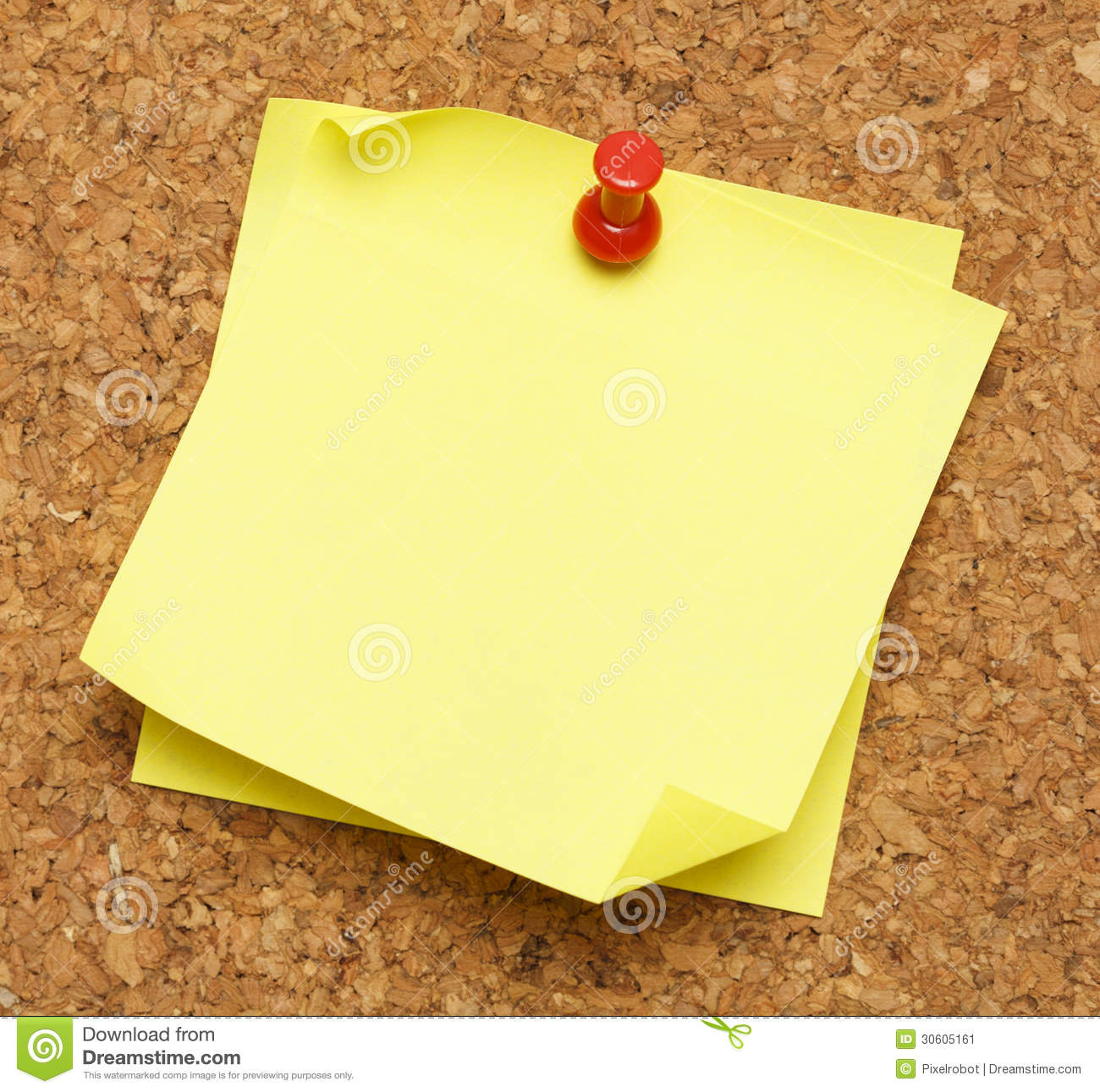 Stick Note Cork Board Stock Image Image Of Empty Message