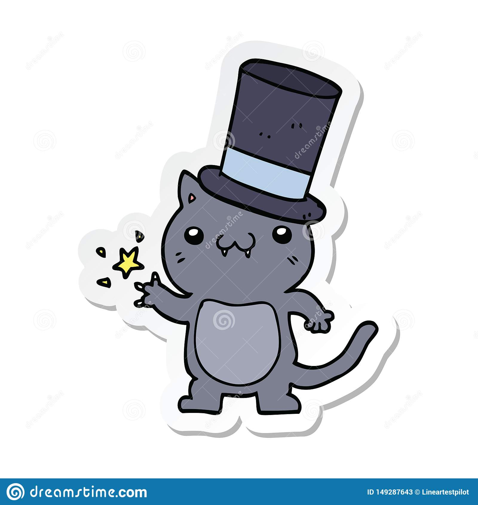 Cartoon Cat Top Hat Stock Illustrations 328 Cartoon Cat Top Hat Stock Illustrations Vectors Clipart Dreamstime