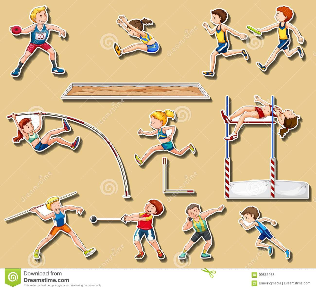 This is a photo of Slobbery Track And Field Drawing