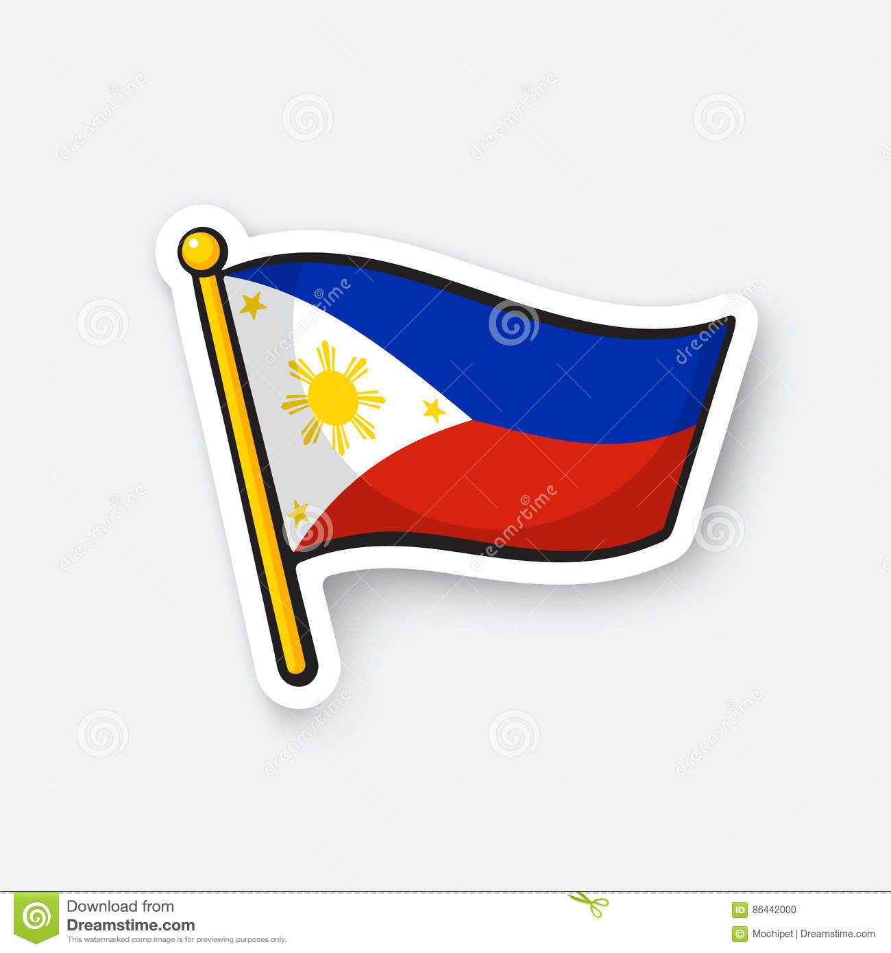 Sticker flag of the philippines stock vector illustration of sticker flag of the philippines biocorpaavc Choice Image