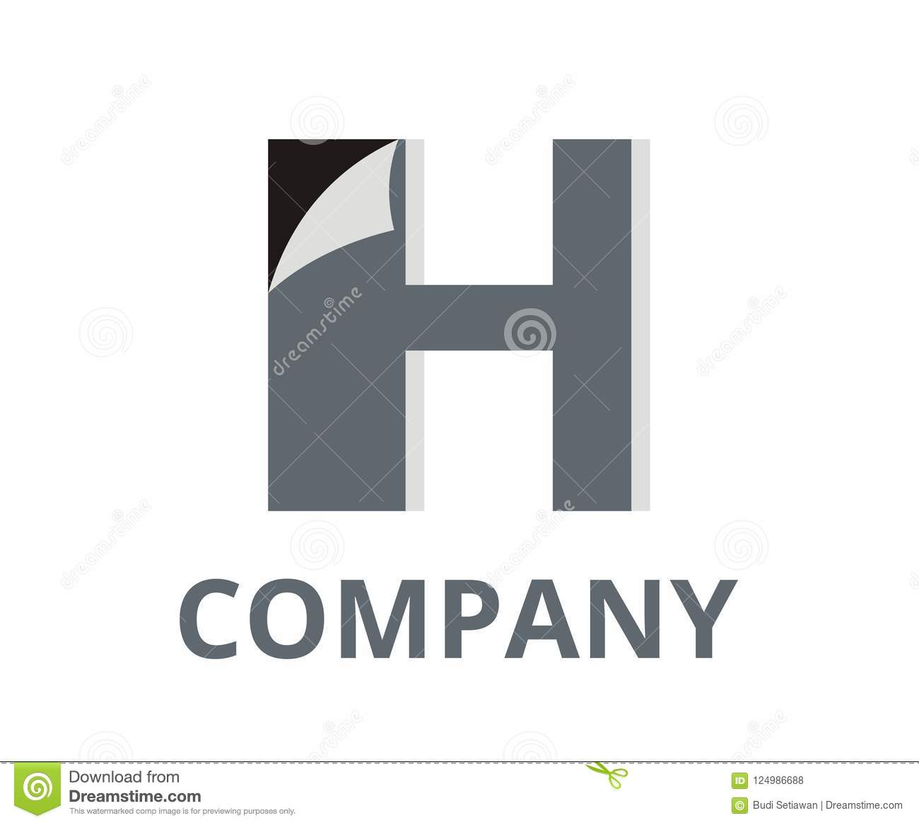 sticker h stock vector illustration of badge initial 124986688