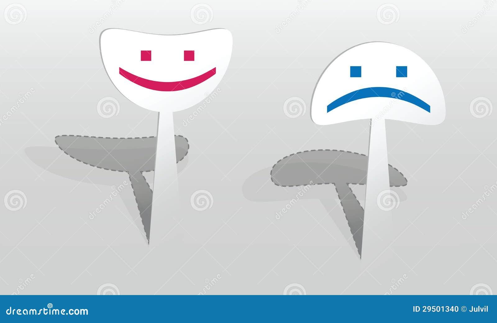 Sticker met twee glimlachen