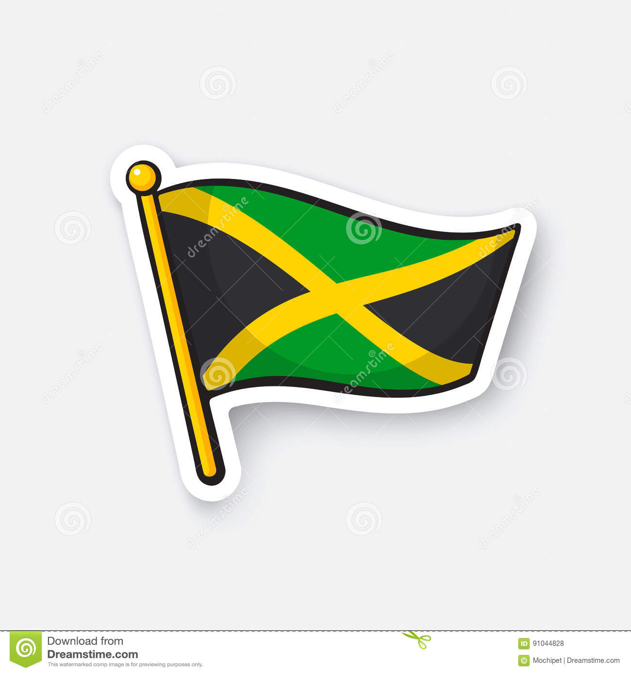 Download sticker national flag of jamaica stock vector illustration of graphic funny 91044828