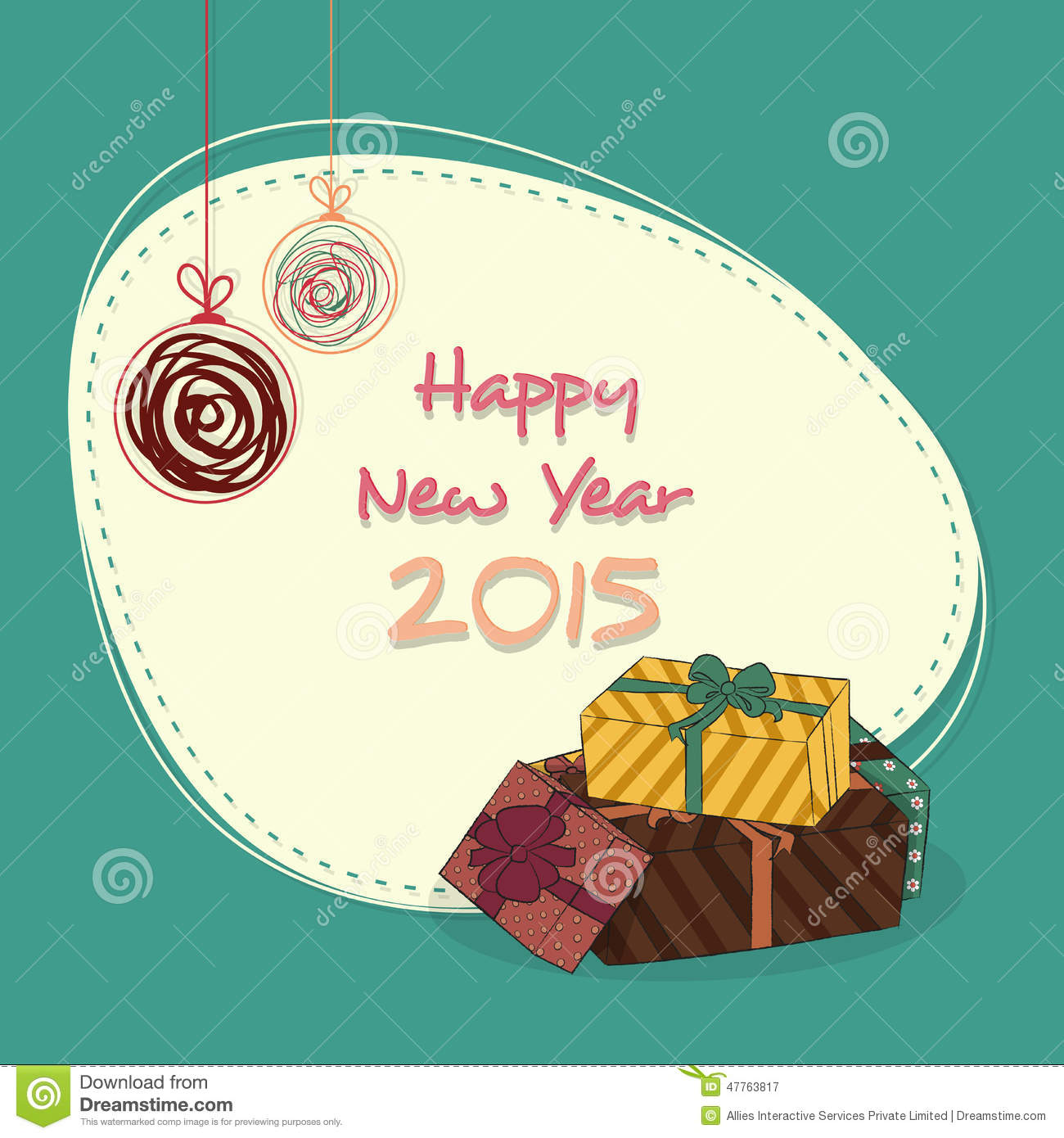 sticker tag or label for happy new year 2015