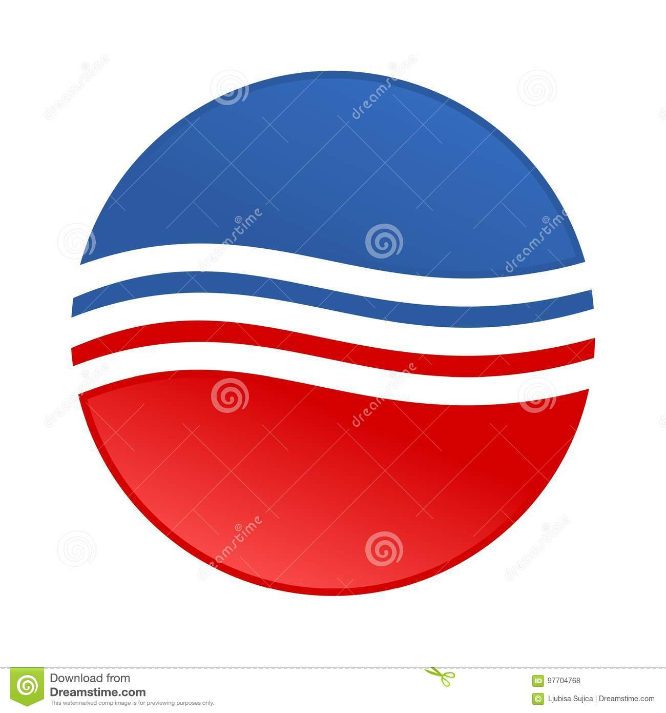dc09639a013 Sticker USA flag - Simple Vector illustration. More similar stock  illustrations