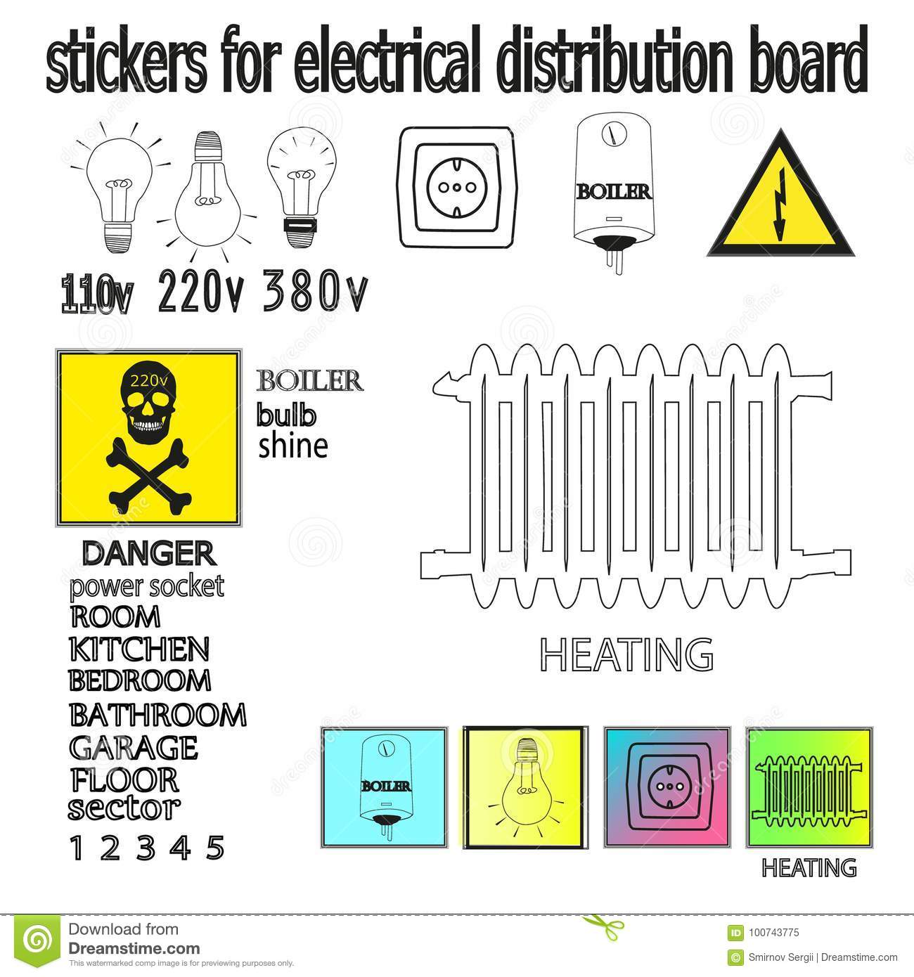 electrical symbol for a distribution board