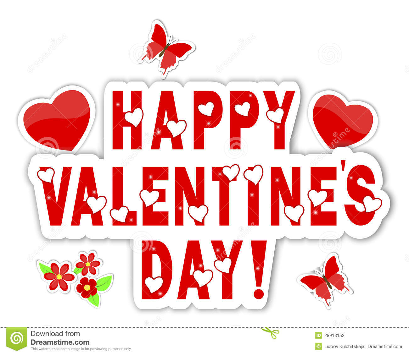 Stickers Valentines Day With A Beautiful Text. Stock Vector ...