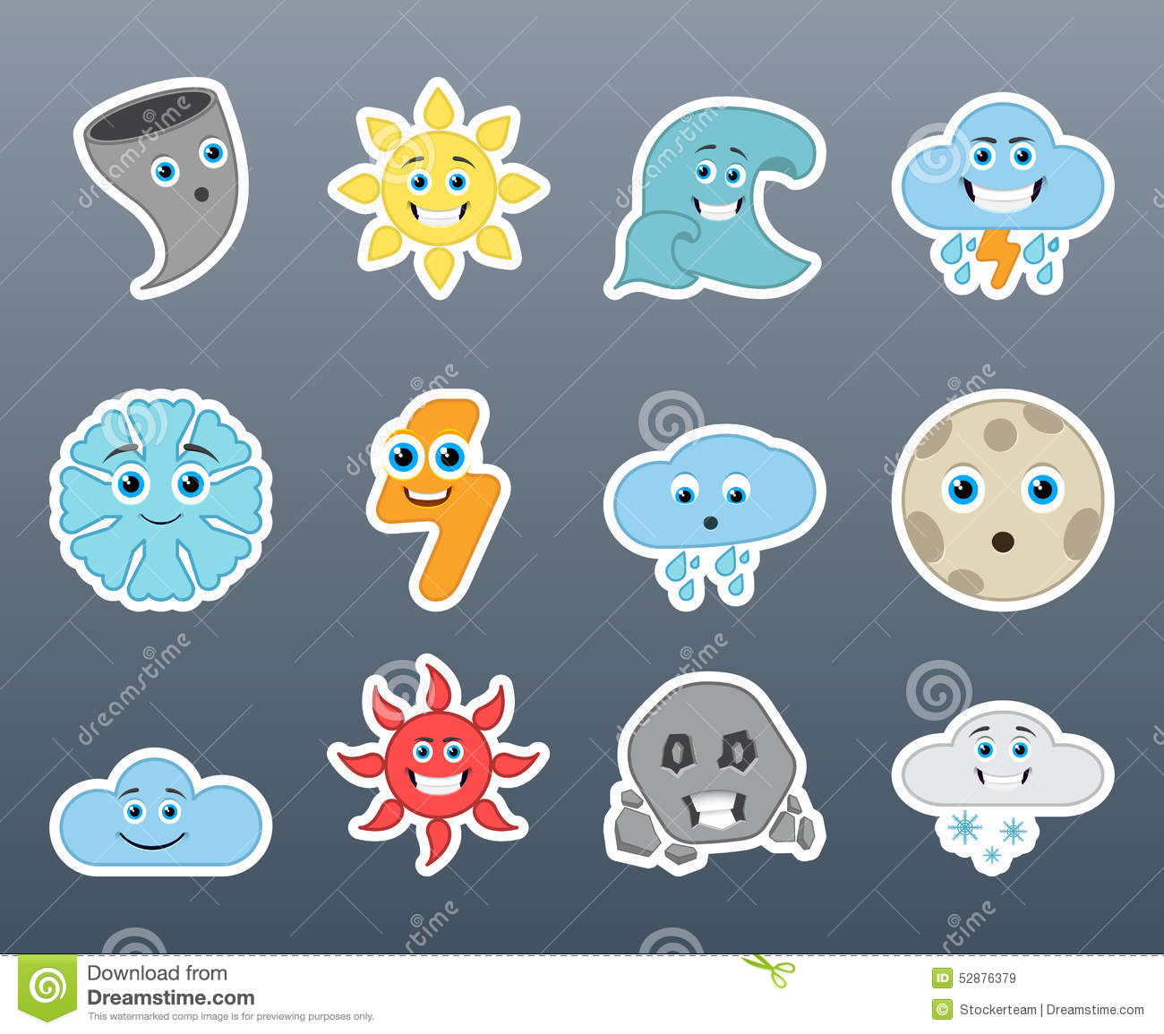 Stickers Varying Weather Stock Illustration Of