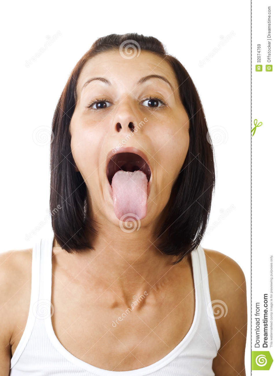 woman spanked for sticking her tongue out