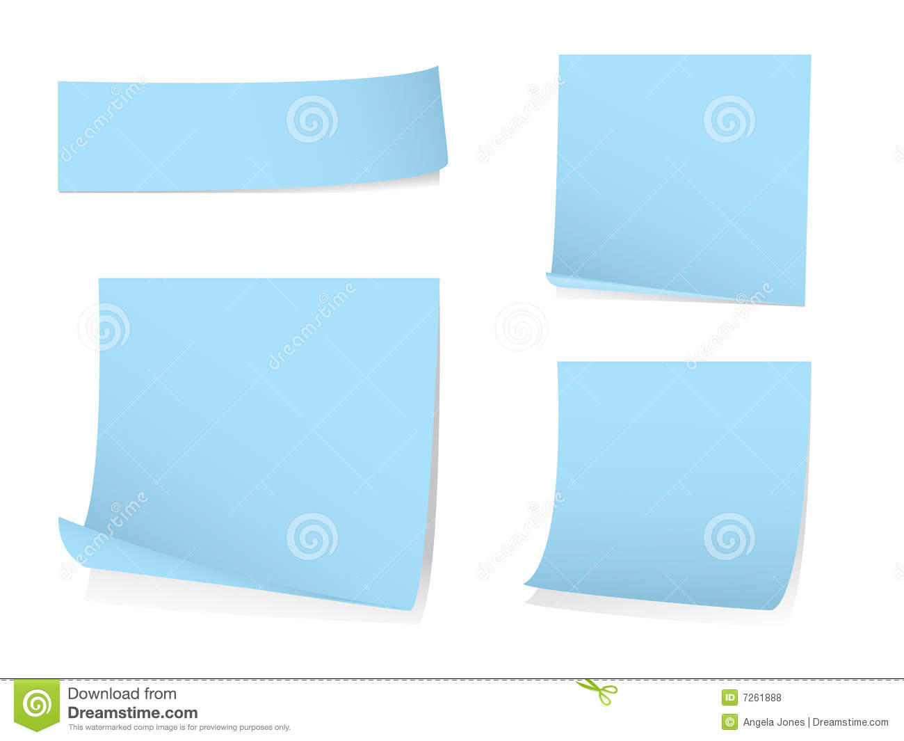 Sticky blank note paper with shadows