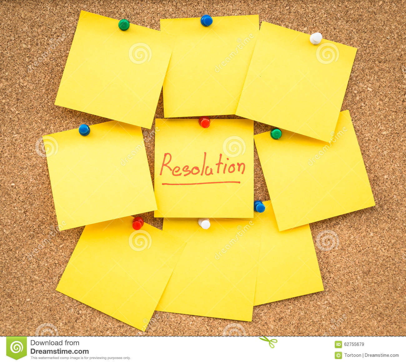 Sticky blank note resolutions for new year