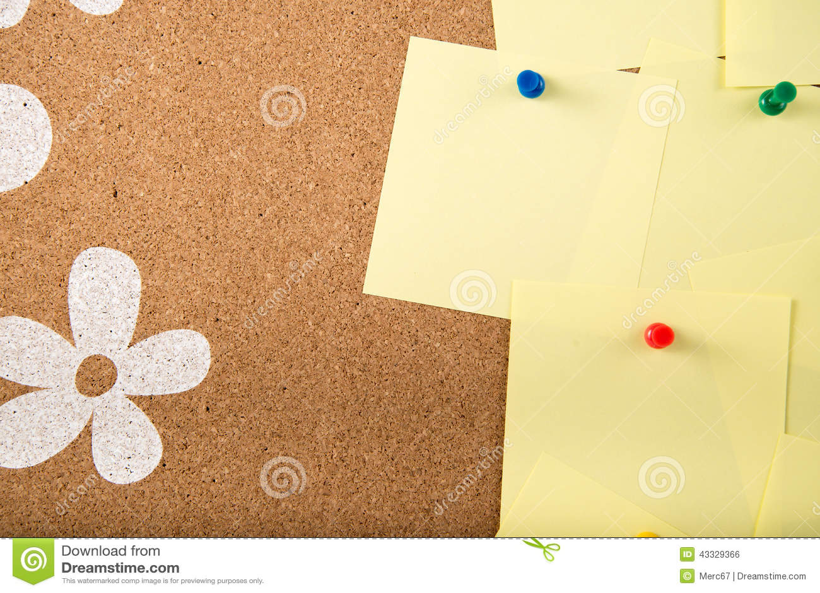 Sticky note memo card on board