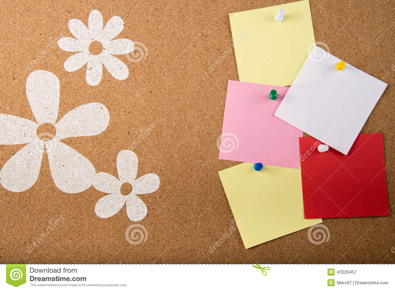 sticky note memo on board stock illustration image  sticky note memo card on board royalty stock photography