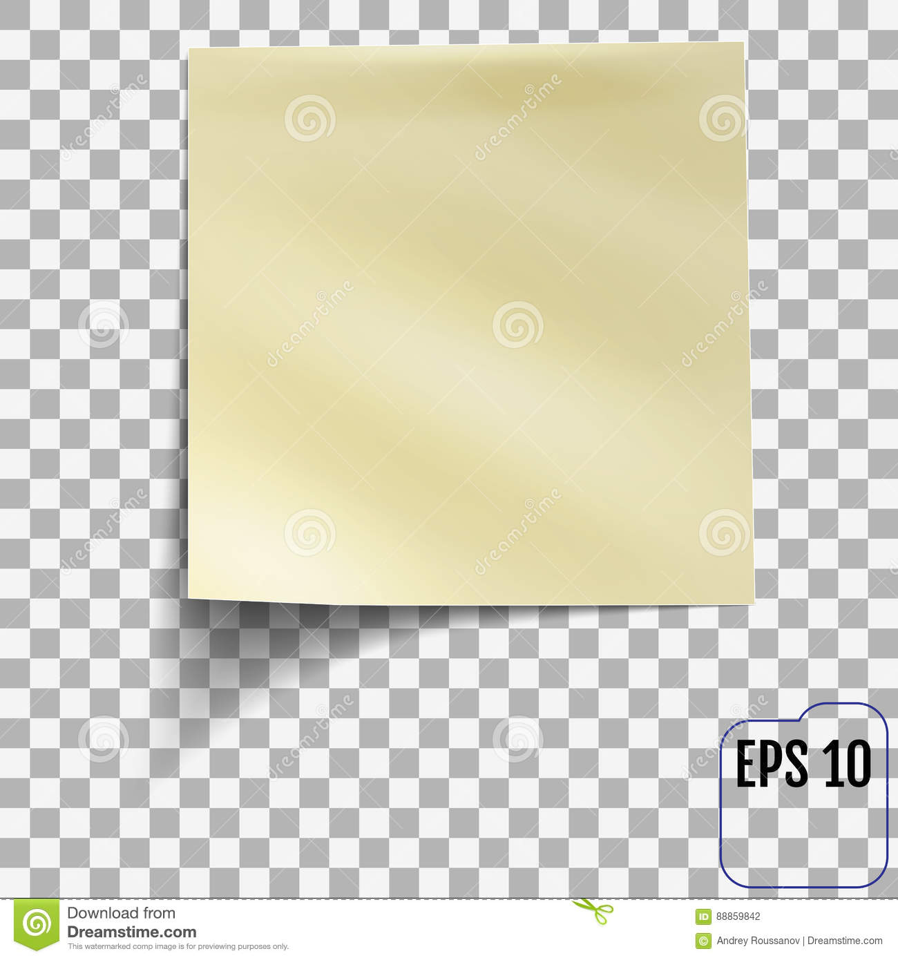 sticky note on transparent background template for you stock vector image 88859842. Black Bedroom Furniture Sets. Home Design Ideas