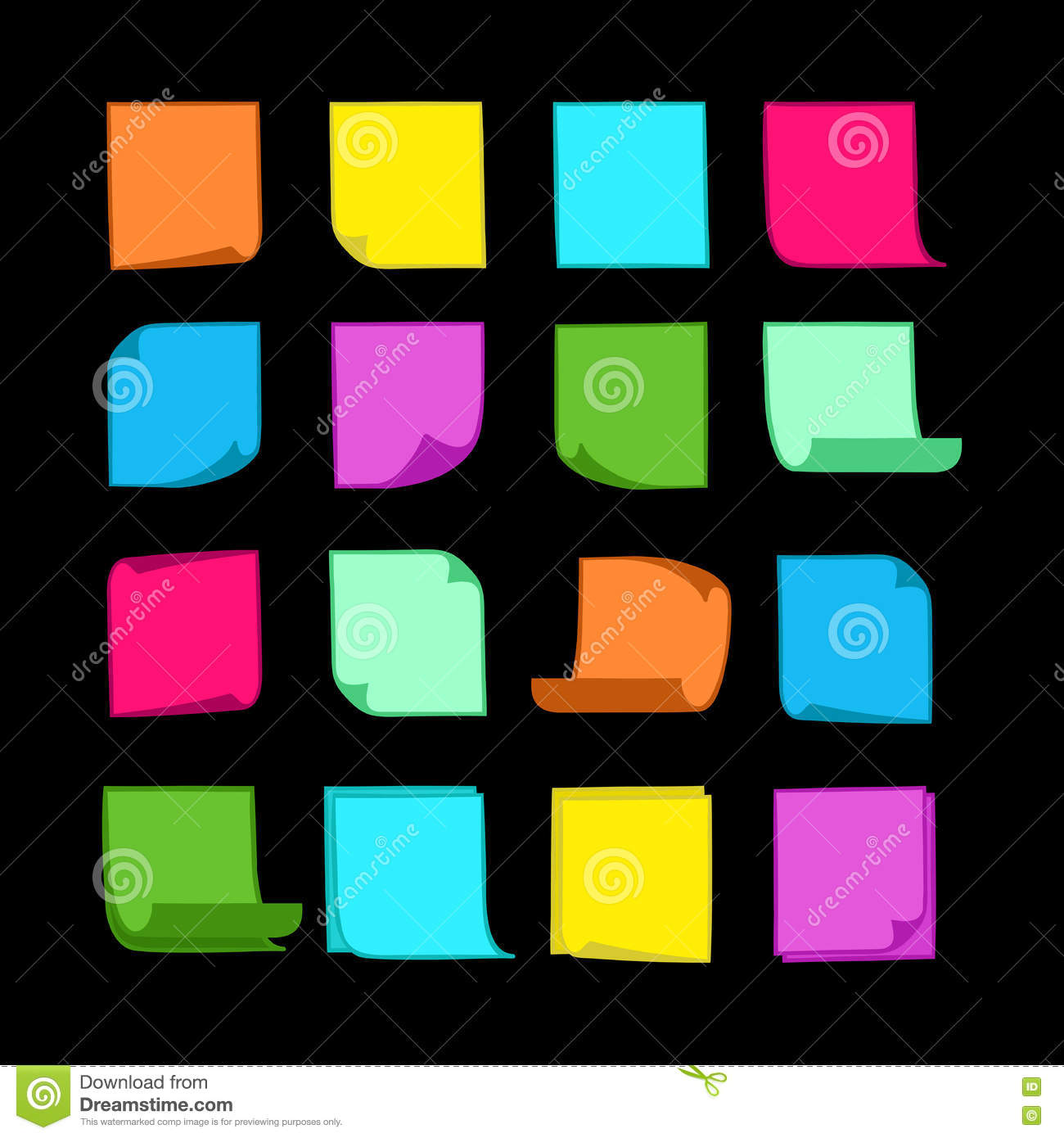 Free vector graphic sticky note note info paper free image on - Royalty Free Vector Sticky Notes Collection 06 Stock Vector