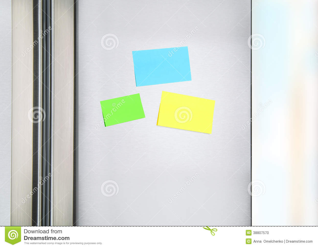 Sticky Notes On The Fridge Stock Photo Image 38807570